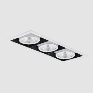 چراغ توکار مازی نور مدل اوربیتال سه خانه